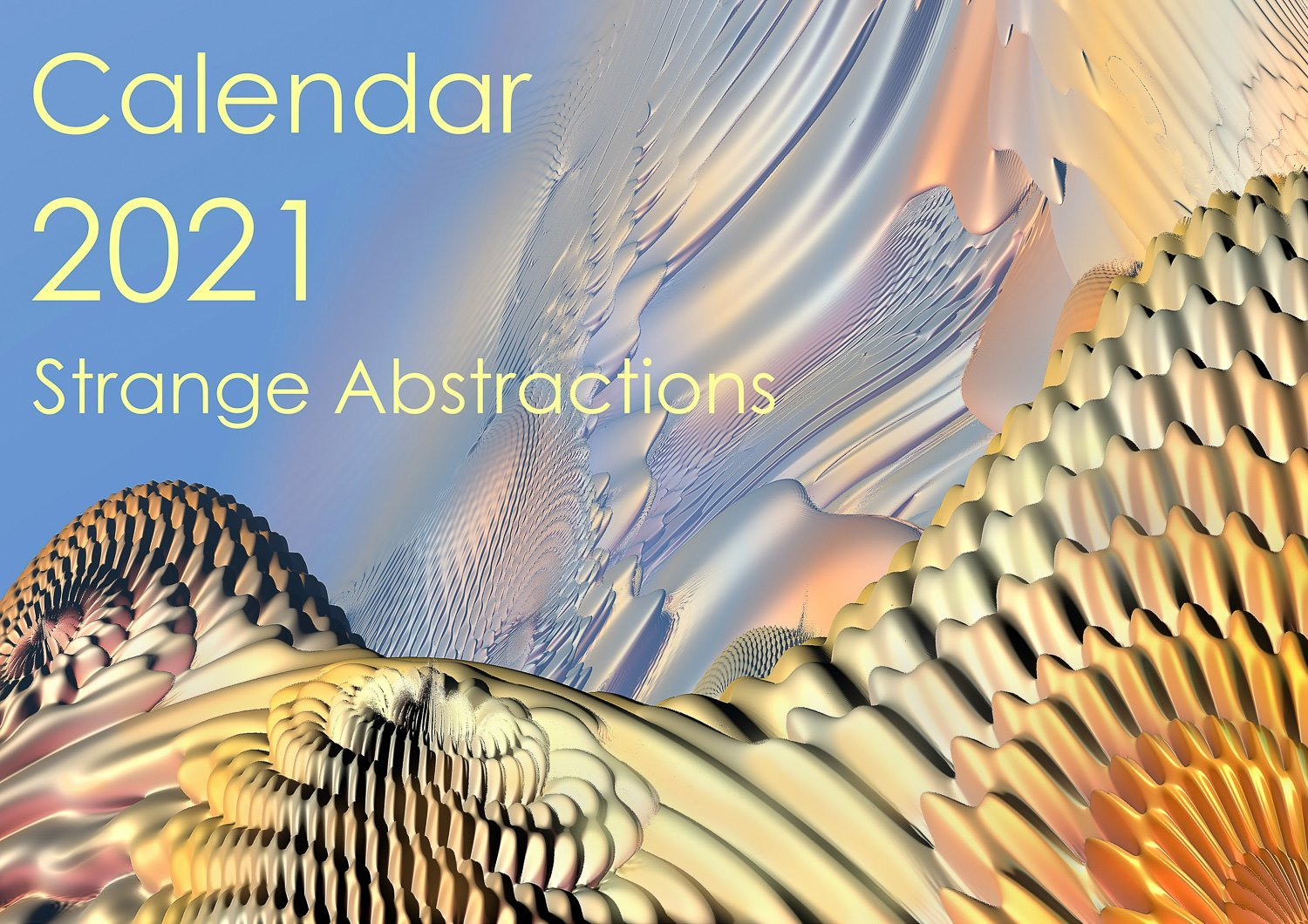 Cover. Strange Abstractions Calendar 2021.