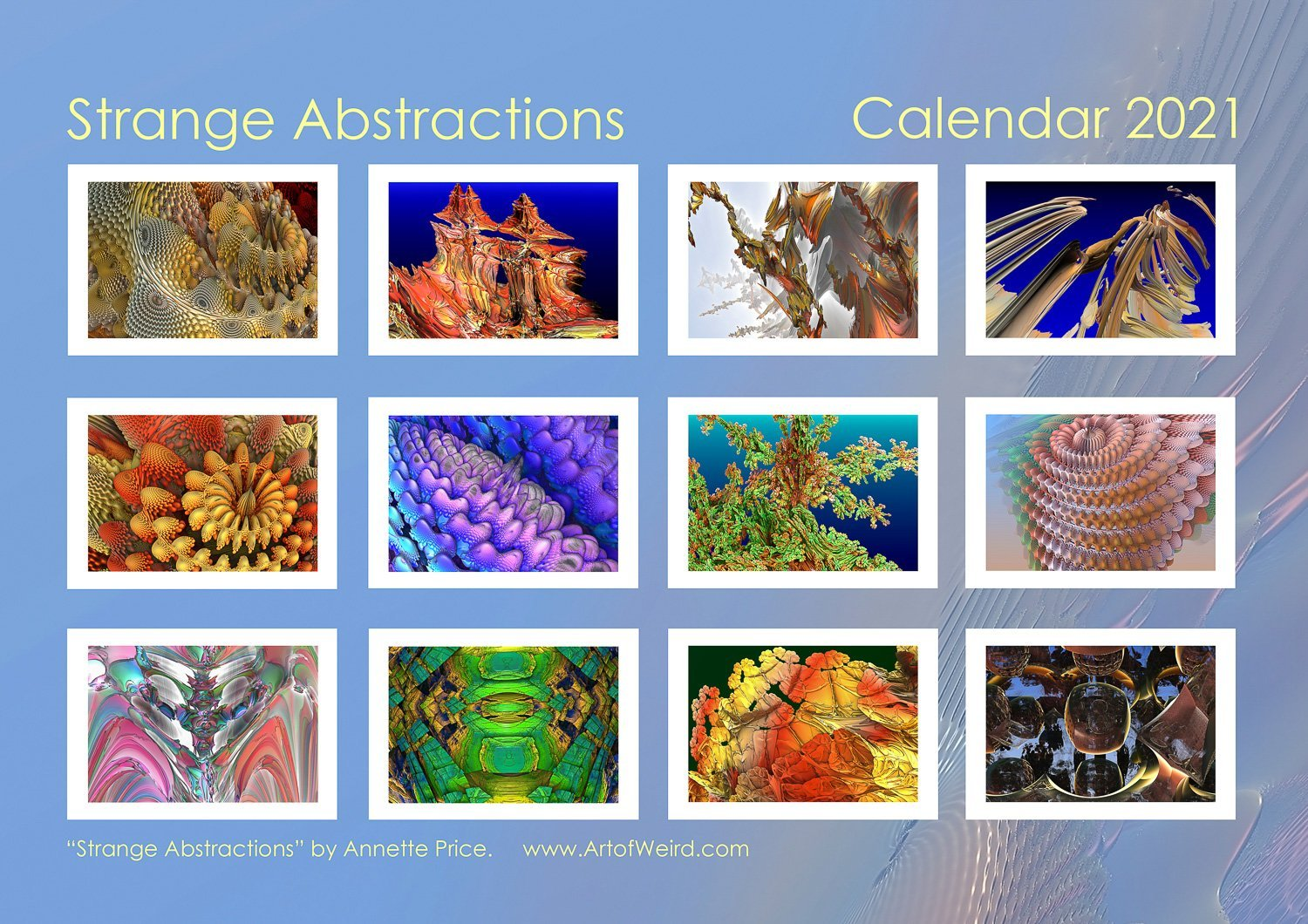 Back cover. Strange Abstractions Calendar 2021