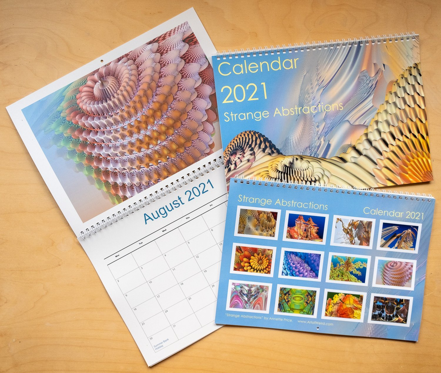 The Strange Abstractions Calendar 2021 has been printed :-)