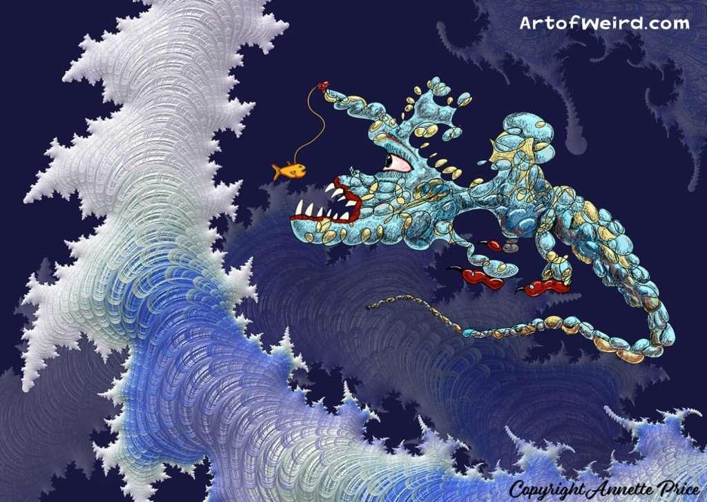 Weird Fish. Fantasy Art. Illustration by Annette Price